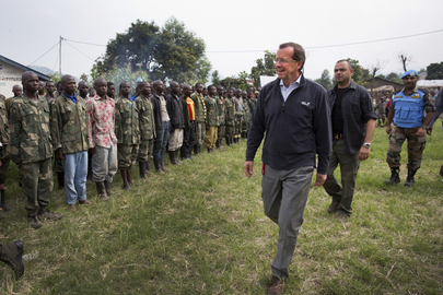 MONUSCO Head Meets Ex-combatants in Bweremana