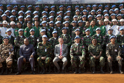 SRSG Attends Medal Parade in Dungu, DRC