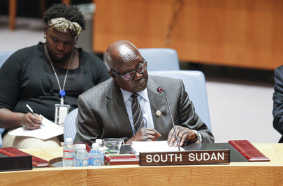 South Sudanese Representative Speaks to Security Council