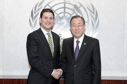 SG Meets IRC President, Former U.K. Foreign Secretary