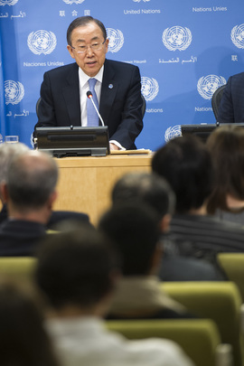 Secretary-General Gives First 2014 Press Conference