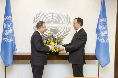 New Permanent Representative of Kazakhstan Presents Credentials