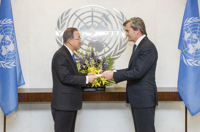 New Permanent Representative of Spain Presents Credentials