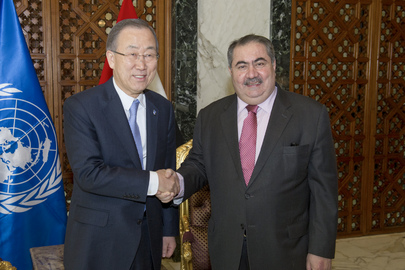 Secretary-General Meets with Iraqi Foreign Minister