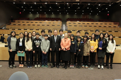 Secretary-General Speaks to Korean Students