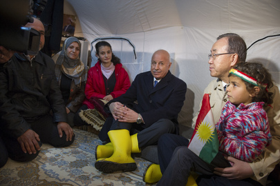 UN Leaders Visit Kawrgosik Refugee Camp, Iraq