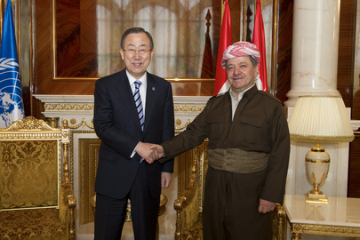 Secretary-General Meets with President of the Kurdistan Region, Iraq