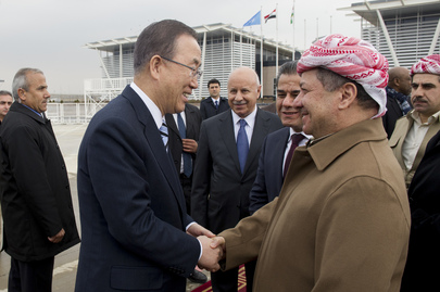 Secretary-General Departs Erbil, Kurdistan