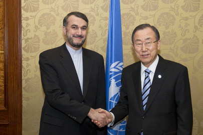 Secretary-General Meets with Iranian Deputy Foreign Minister