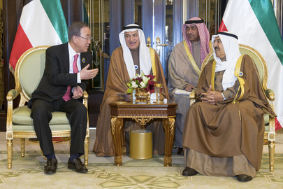 Secretary-General Meets Amir of Kuwait