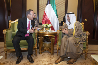 Secretary-General Meets with Prime Minister of Kuwait