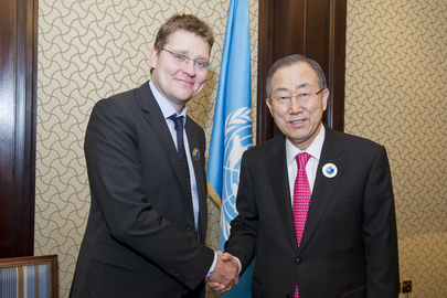 Secretary-General Meets with Danish Minister for Development Cooperation