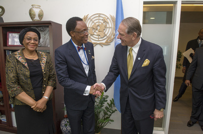 Deputy Secretary-General Meets with Nigerian Minister and Permanent Representative