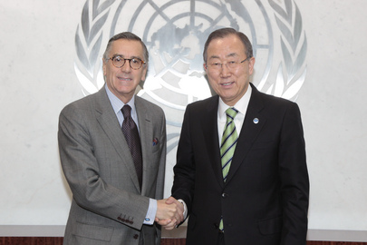 Colombian Representative Pays Farewell Call to Secretary-General