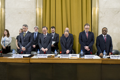 Conference on Disarmament Observes Minute of Silence