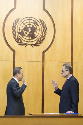 Secretary-General Swears In Acting Director-General of the United Nations Office at Geneva (UNOG)