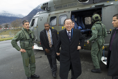 Secretary-General Arrives for Start of Geneva II Conference on Syria