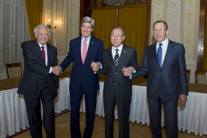 US, UN, and Russia Tripartite Meeting Precedes Geneva II Conference