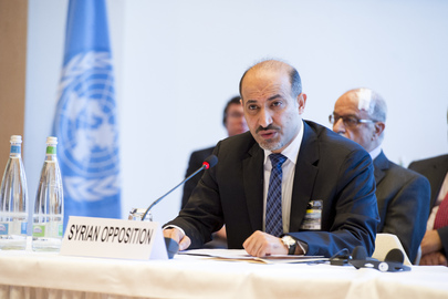 Syrian Opposition Addresses Geneva II Peace Conference