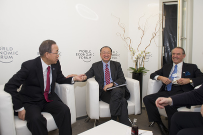 Secretary-General Meets With World Bank President in Davos