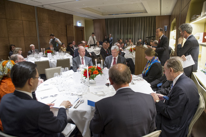 Secretary-General Speaks at Global Compact-WEF Dinner