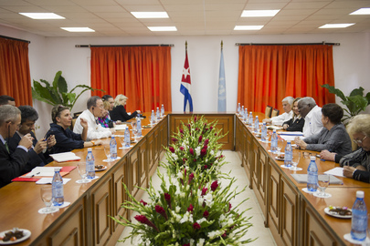 Secretary-General Meets Head of Cuban National Assembly