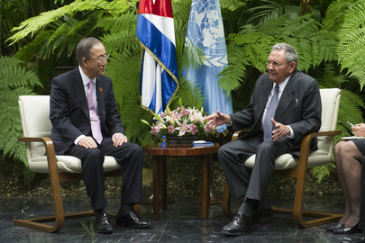 Secretary-General Meets President of Cuba