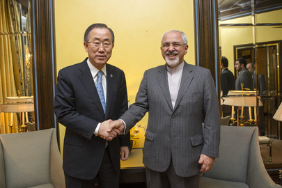 Secretary-General meets with Iranian Foreign Minister