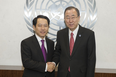 Farewell Call by Permanent Representative of Lao Republic