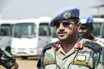 UNMISS Deputy Commander Welcomes Nepalese Contingent