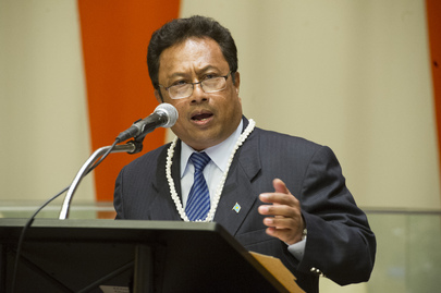 "President of Palau Addresses Discussion on ""Healthy Oceans and Seas"""