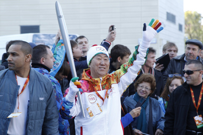 Secretary-General in Olympic Torch Relay, Sochi