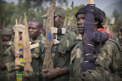 Ex-combatants at Transit Camp in Bweremana, DRC