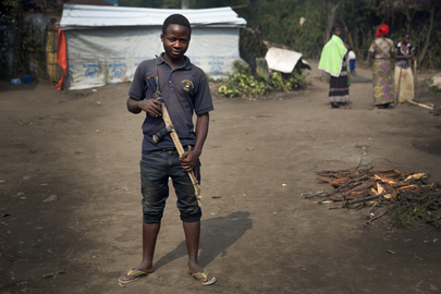 Ex-combatant at Transit Camp in Bweremana, DRC