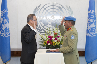 Peacekeeping Military Adviser Sworn In