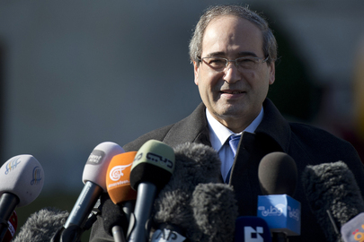 Syrian Deputy Minister Speaks to Press