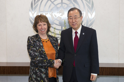 Secretary-General Meets EU High Representative for Foreign Affairs