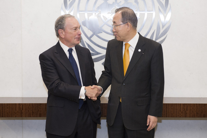 Secretary-General Meets His Special Envoy for Cities and Climate Change