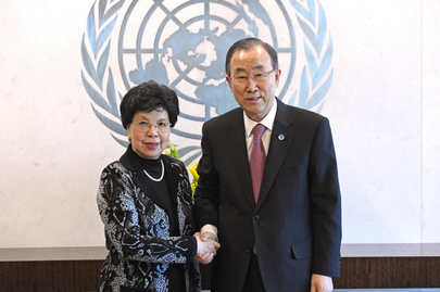 Secretary-General Meets Head of WHO