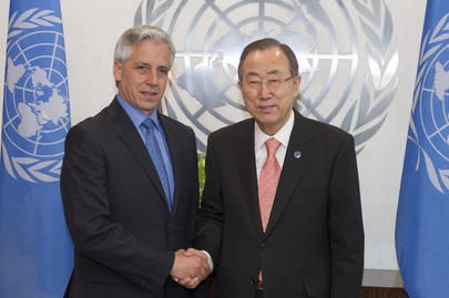 Secretary-General Meets Vice-President of Bolivia