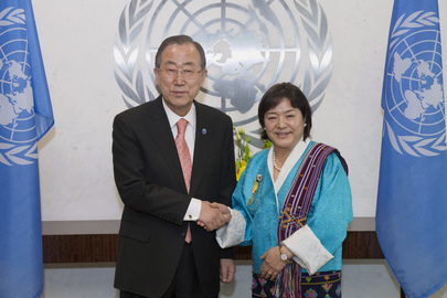Secretary-General Meets New Permanent Representative of Bhutan
