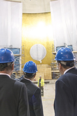 Secretary-General Tours Assembly Building Under Renovation