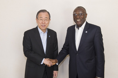 Secretary-General Meets Head of Central African Republic Peacebuilding Office
