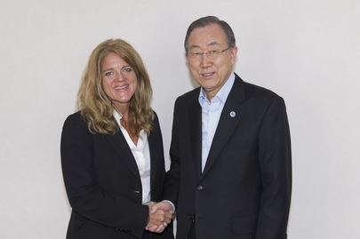 Secretary-General Meets His Special Representative for South Sudan