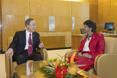 Secretary-General Meets Human Rights Commissioner