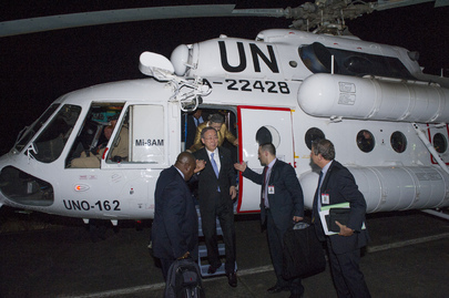 Secretary-General Arrives in Freetown, Sierra Leone