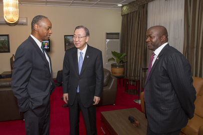 Secretary-General Meets Foreign Minister of Liberia