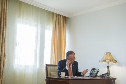 Secretary-General Speaks to US Secretary of State from Sierra Leone