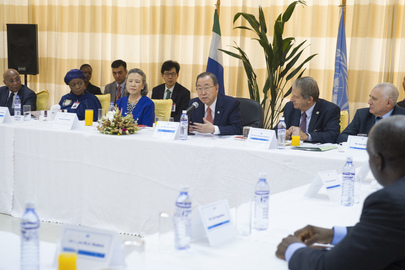 Secretary-General Meets Senior Managers of UNIPSIL and Sierra Leone Country Team