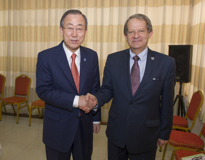 Secretary-General Meets Head of Sierra Leone Peacebuilding Office